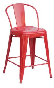"Red Round Back 24""Counter Stool (2410004)"