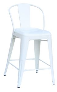 "White Round Back 24""Counter Stool (2410204)"