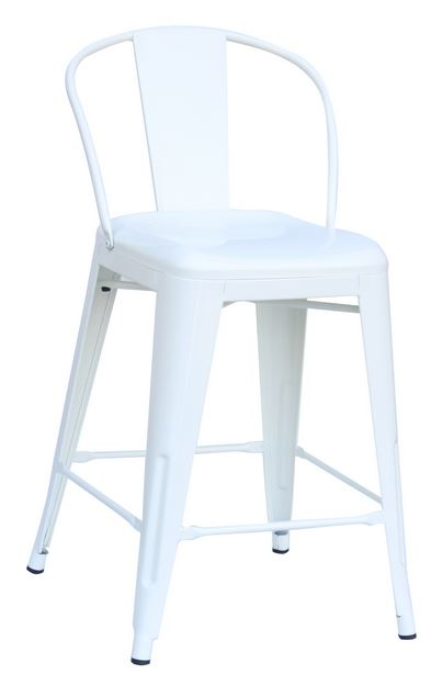 "White 24"" Round back counter stool"