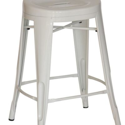 White contour counter stool