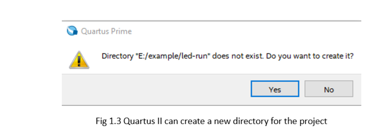 confirm create new directory