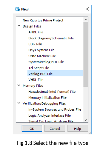 select new file type