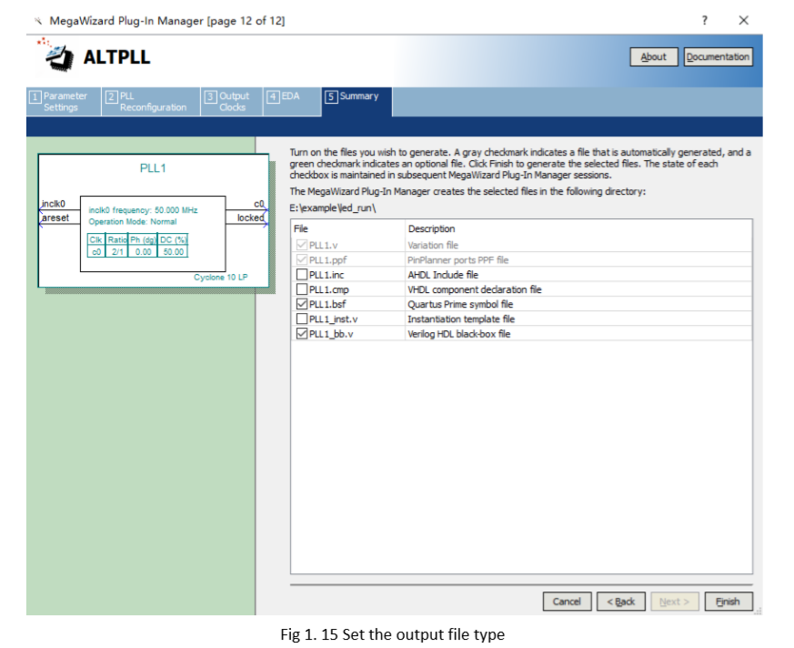 set Output File Type