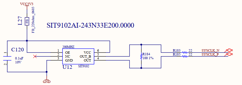 Schematics of Oscillator