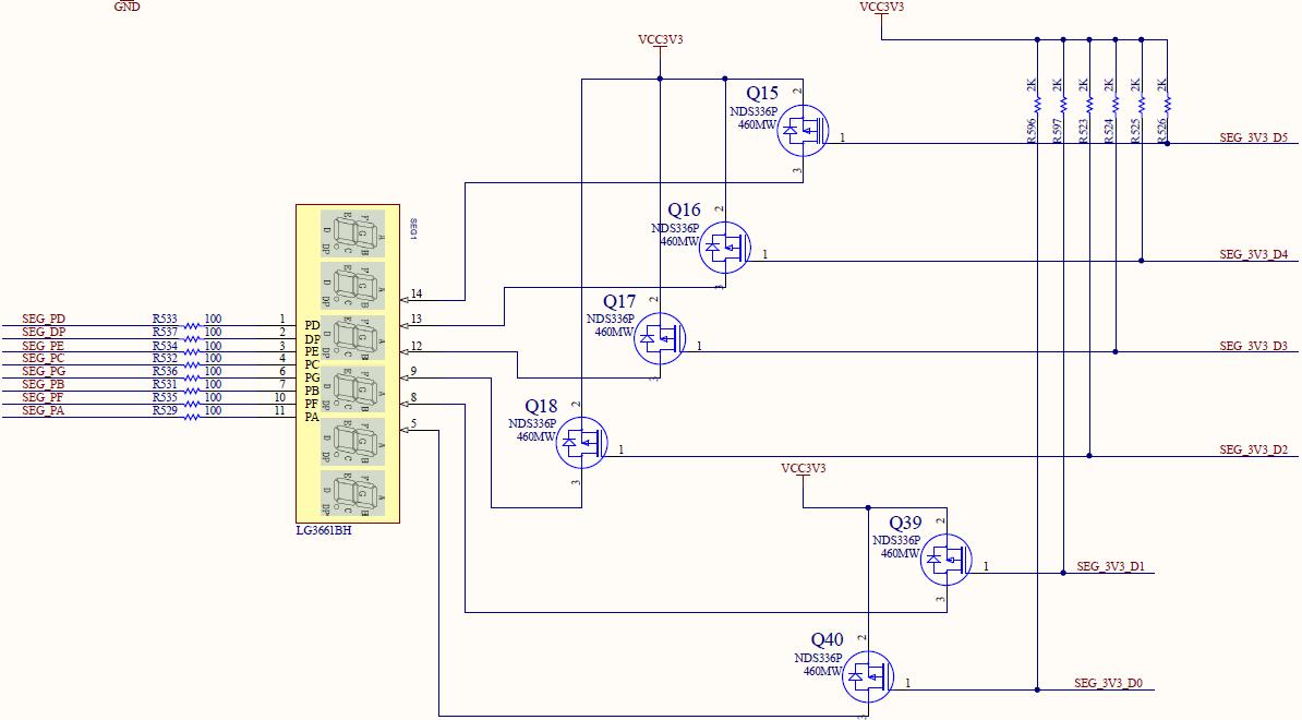 Schematic of Display Decoders