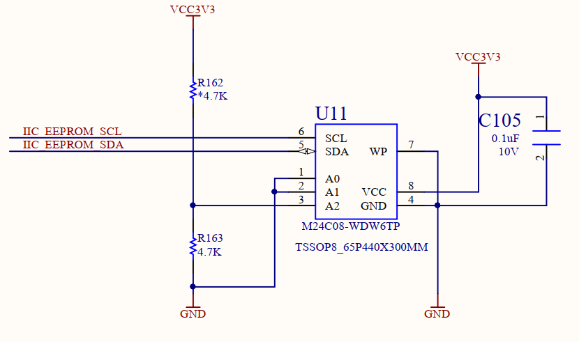 Schematics of EEPROM