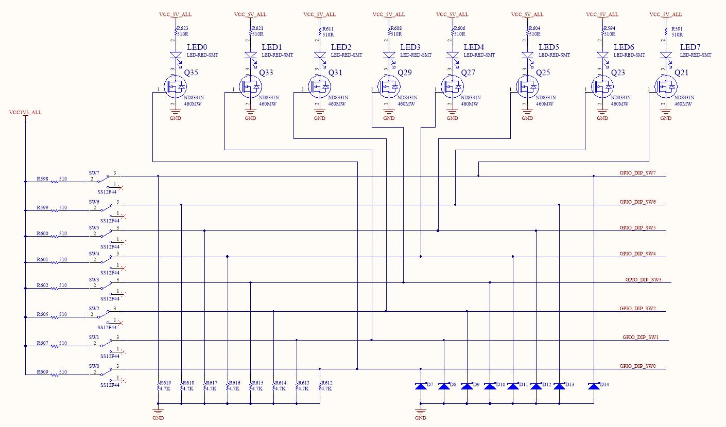 Schematics of DIP Switches