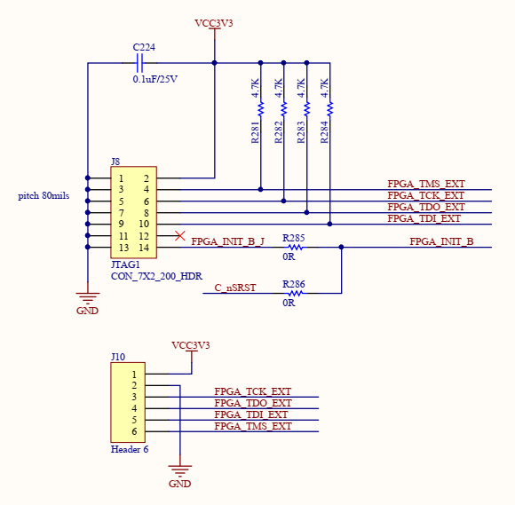 Schematics of JTAG Interface