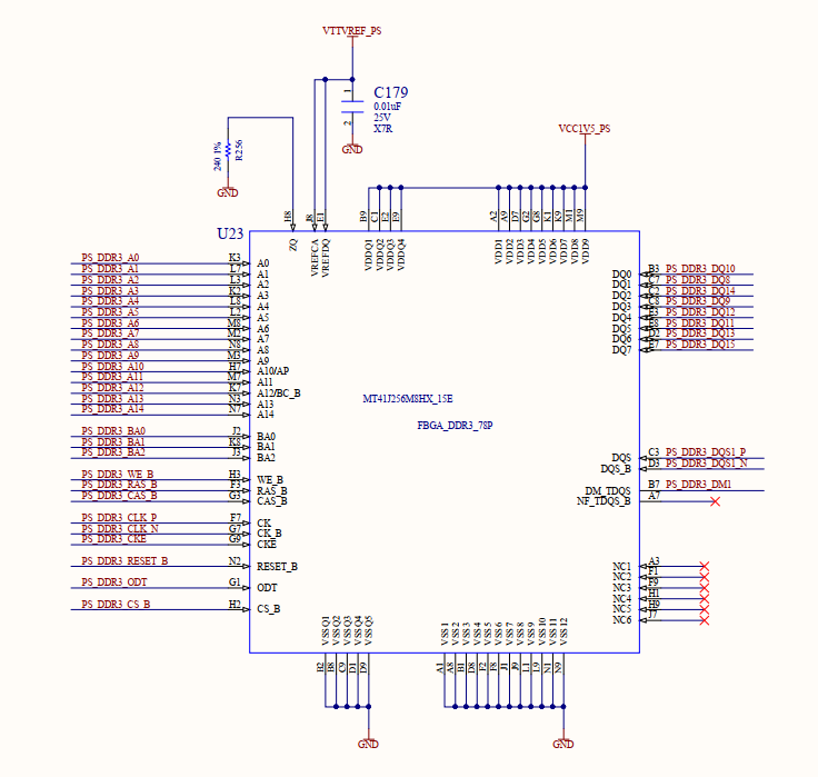 Schematics of DDR3