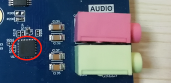 Audio Interface and Chip Physical Picture