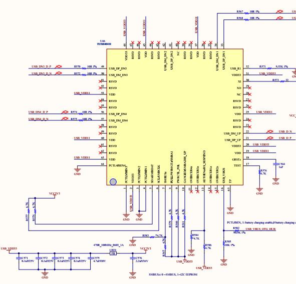 Schematics of USB