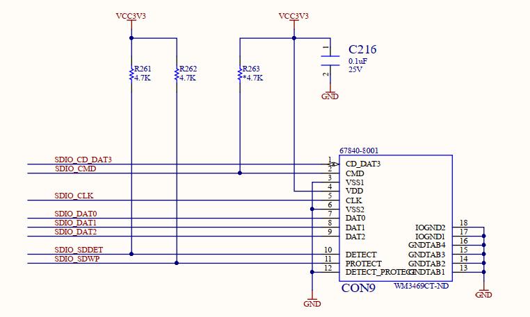 Schematics of SD Card