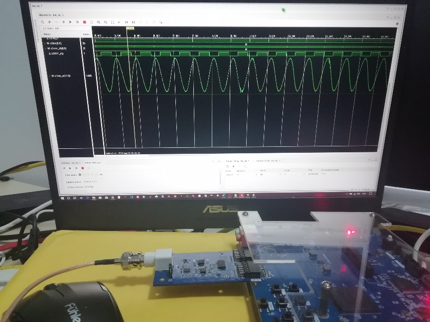 Signal waveform of AD9226 captured by logic analyzer