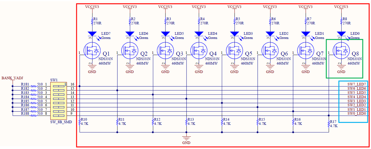 Schematics of LED