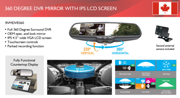 360 Degree DVR Mirror