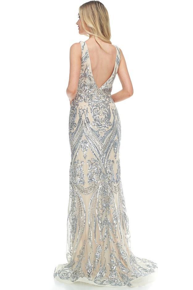 LBE0070-white-silver-beaded-ball-dress