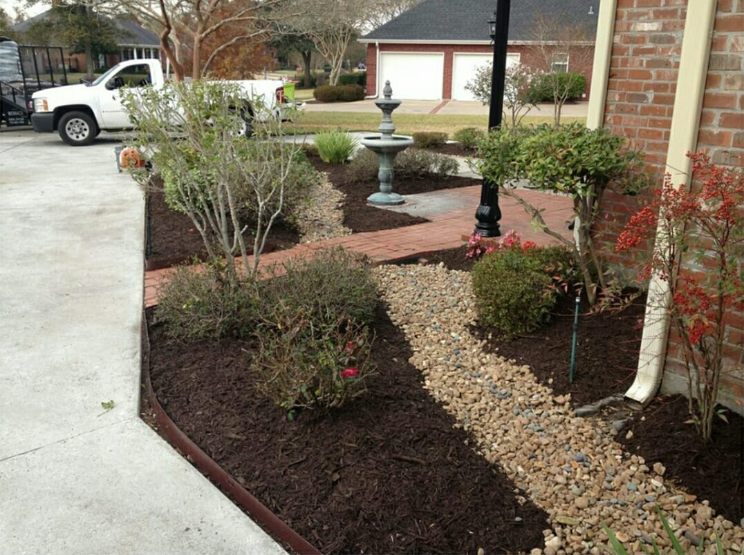 Landscaping Companies create beautiful rock beds for your garden