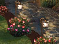 Tender Care Lawn Services   Landscape Solutions - Walkway Lighting