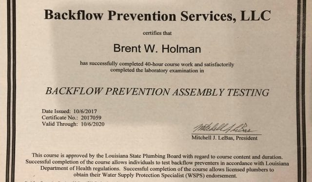 Tender Care Lawn Services | Backflow Testing Certified