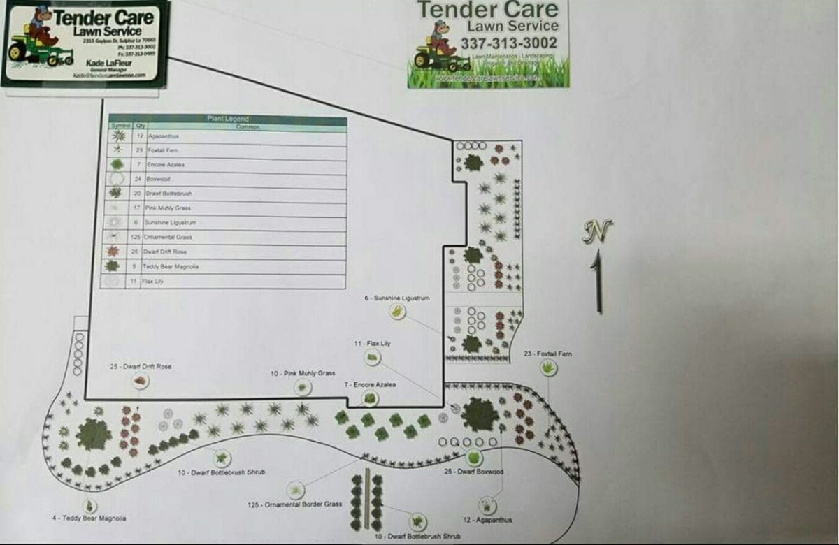 Tender Care's Lawn Maintenance Services include Landscape Design and Installation
