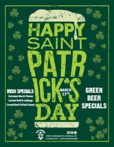 St. Patrick's Day March 17 Specials