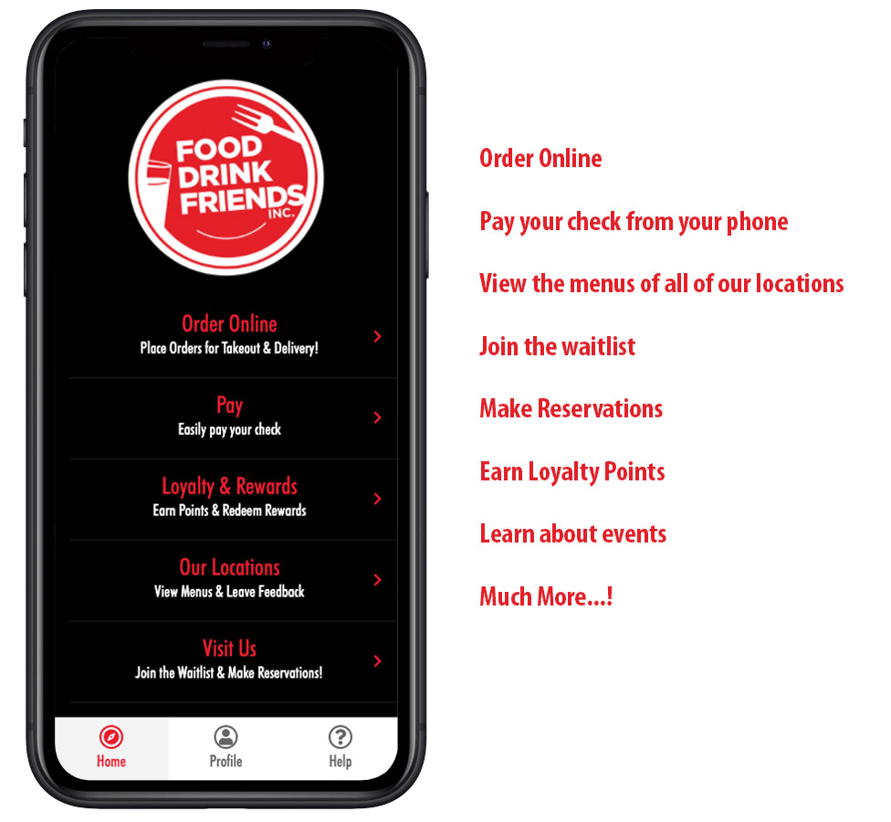 Food Drink Friends App