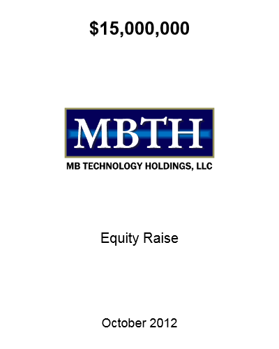 MBTH Equity Oct 2012