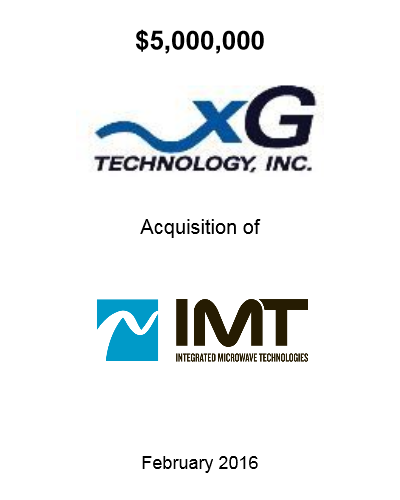 xGTI Acquisition of IMT 2016