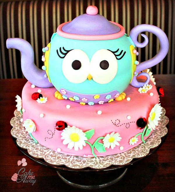 Owl-Teapot-Ladybug-Cake