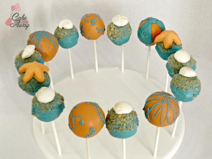Sea Shell Beach Cake Pops