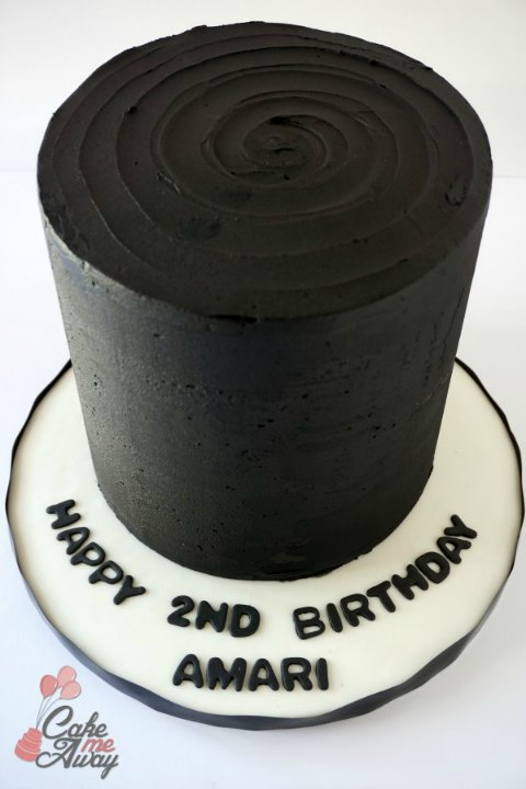 All Black Blackout Birthday Cake