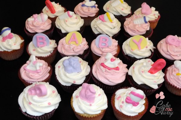 Baby Shower Girl Cupcakes