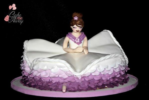 Ballerina Splits Cake Front