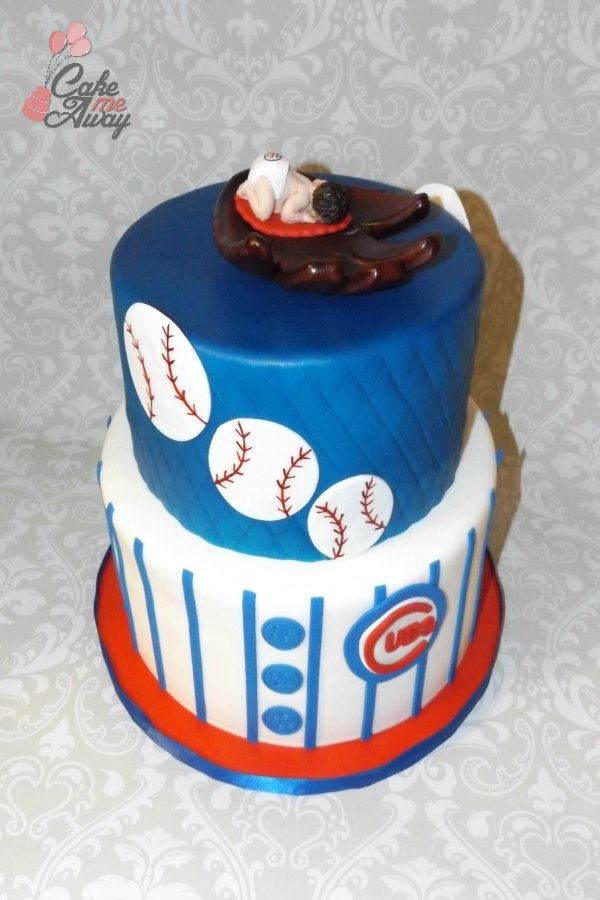 Baseball Jersey Cubs Birthday Cake Dad to Be