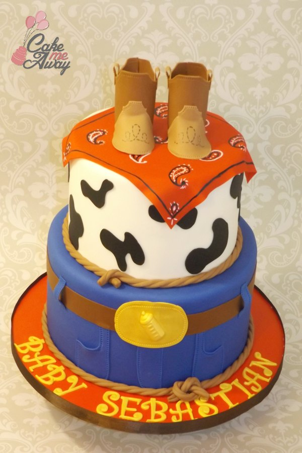 Cowboy Boots Baby Shower Cake