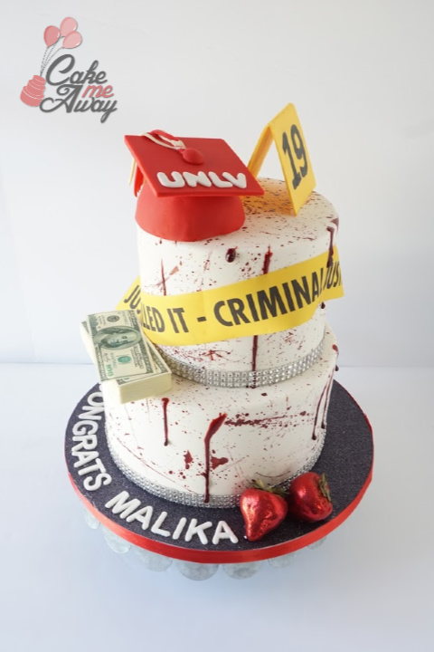 Criminal Justice Graduation Cake Back