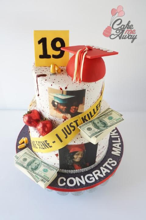 Criminal Justice Graduation Cake Front