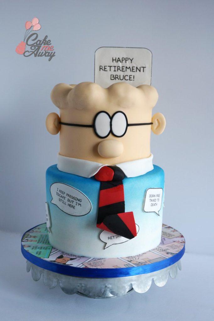 Dilbert Comic Retirement Cake