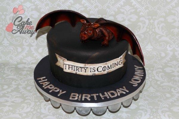 Dragon Game of Thrones Birthday Cake