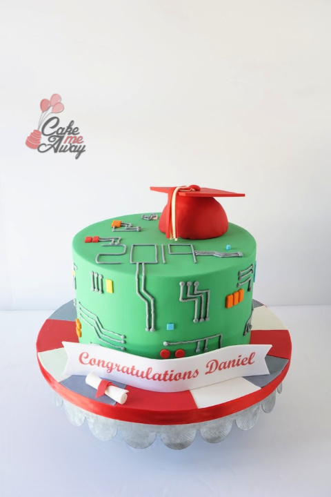 Graduation Computer Engineer Cake