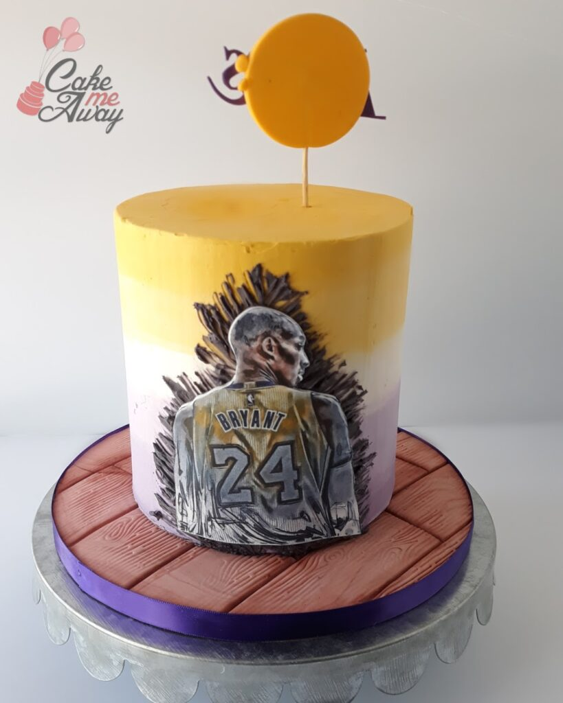 Kobe Sketch Birthday Cake