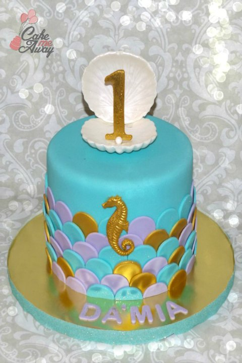 Mermaid Scales Birthday Cake