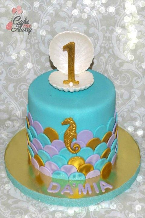 Mermaid Scales Birthday Cake