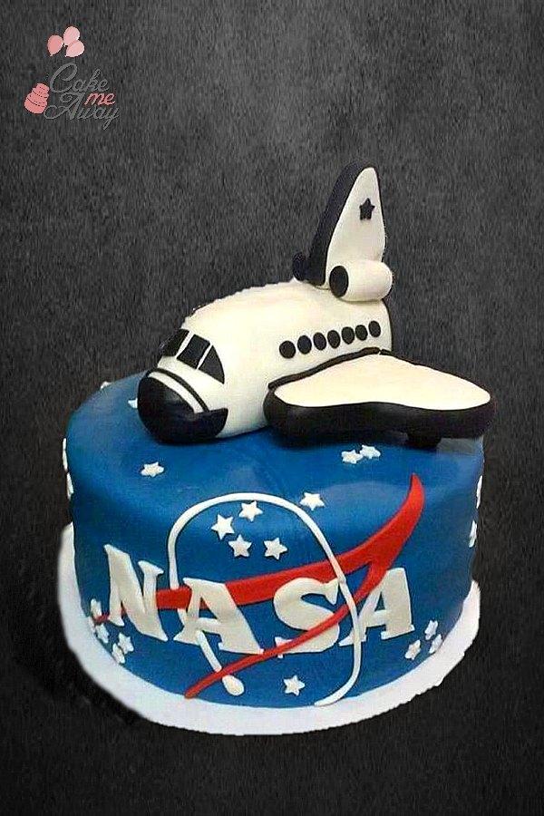 NASA Rocket Birthday Cake