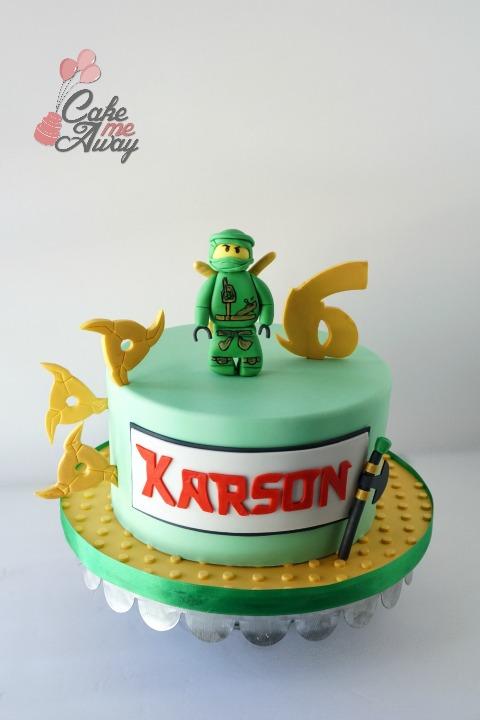 Ninjago Green Gold Birthday Cake
