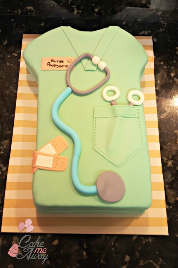 Nurse Scrub Top Cake
