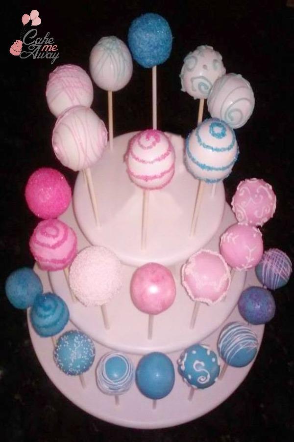 Pink Blue Baby Shower Cake Pops