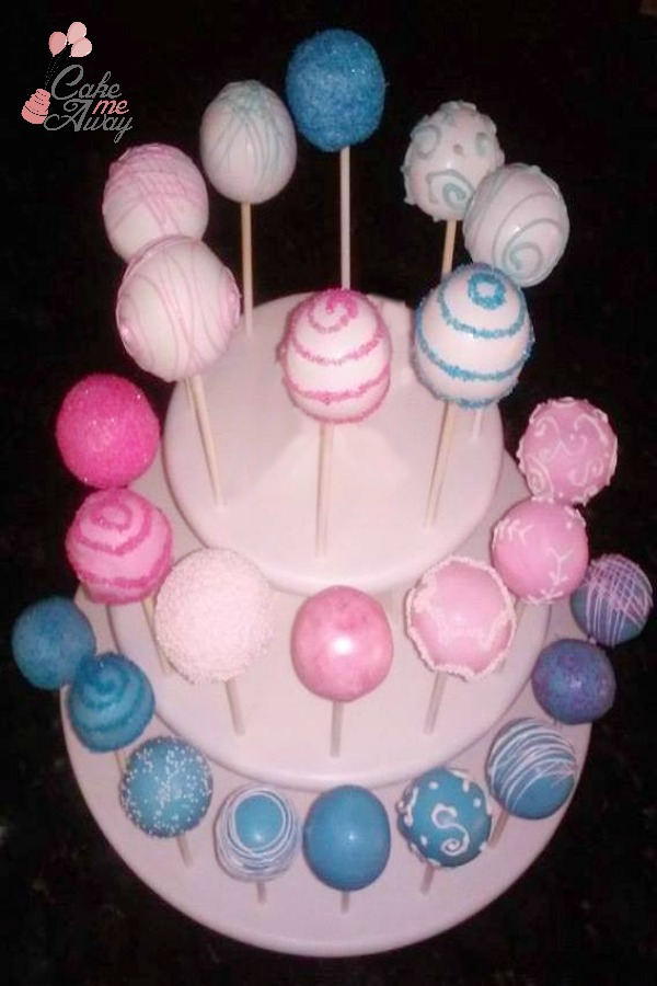 Pink Blue Baby Shower Cake Pops