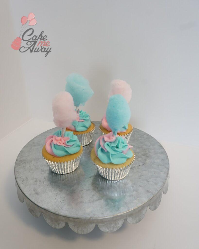 Pink Blue Cotton Candy Cupcake