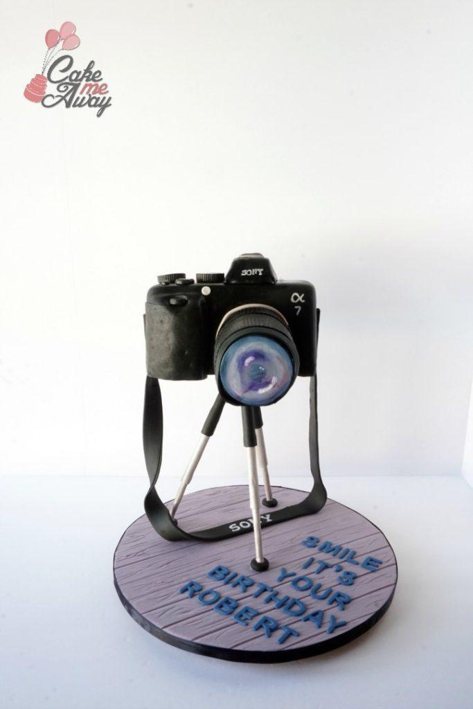 Sony A7 Camera Front Birthday Cake